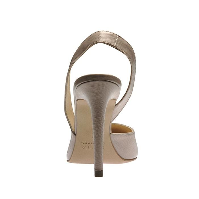 Escarpins sling beige crème Evita