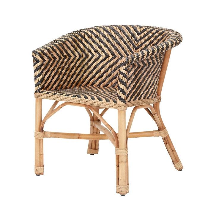 fauteuil en rotin bicolore zebra rotin design z br rotin design la redoute. Black Bedroom Furniture Sets. Home Design Ideas