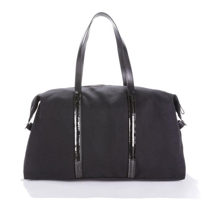 50a0c7cb19 Sac cabas toile et sequins 48h noir Vanessa Bruno | La Redoute