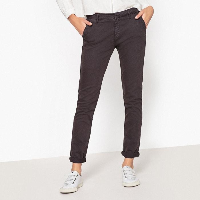 Pantalon chino sandy gris anthracite Reiko   La Redoute 80d097fb5d3f