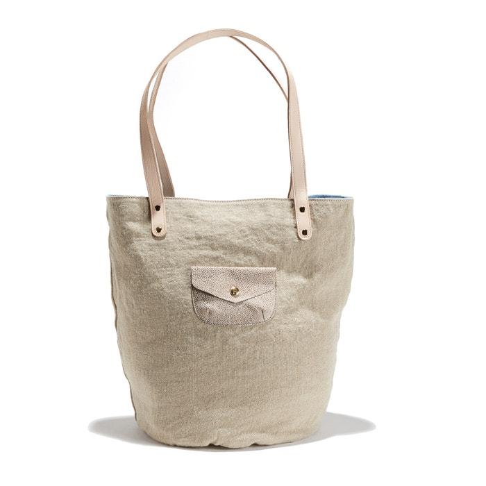 Petit Polochon Lin Reversible Shopper  CRAIE image 0