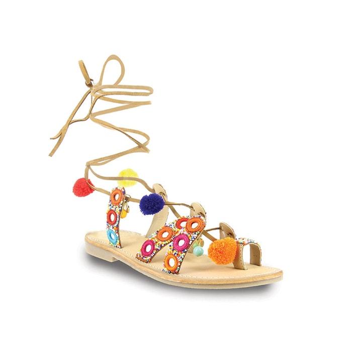 afbeelding Platte sandalen in leer Orea LES TROPEZIENNES PAR M.BELARBI