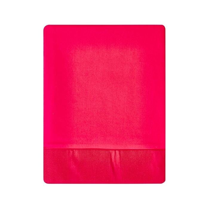 drap plat regain en satin de coton cerise cerise essix la redoute. Black Bedroom Furniture Sets. Home Design Ideas