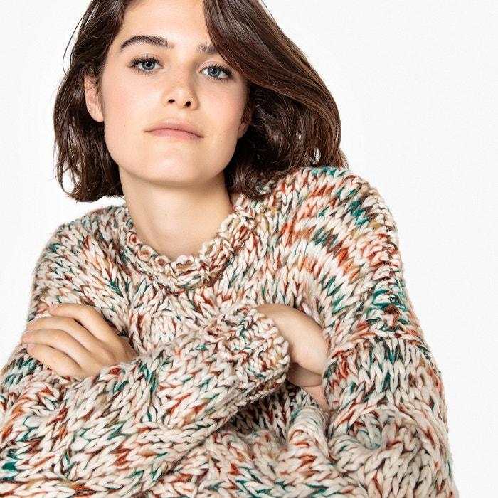 Pull scollo rotondo maglia grossa, trecce  La Redoute Collections image 0