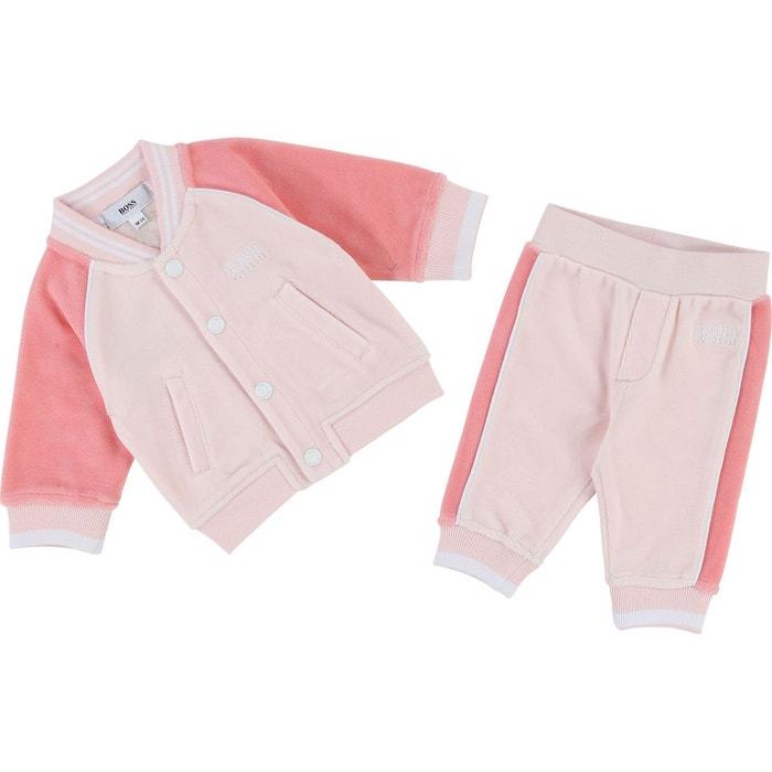 Ensemble de survêtement bébé coton rose Boss - Hugo Boss  099636441bf