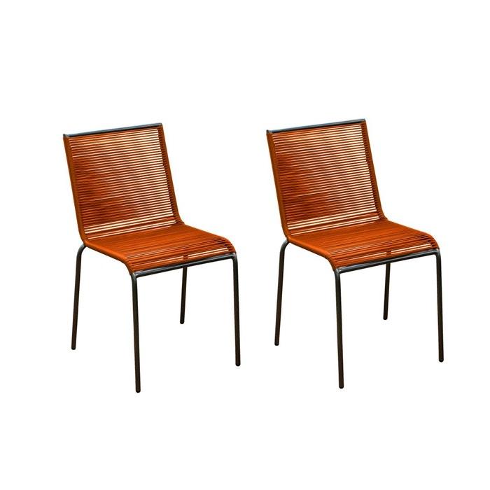 chaise de jardin chacabuco lot de 2 rendez vous deco la redoute. Black Bedroom Furniture Sets. Home Design Ideas