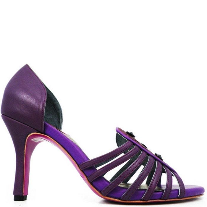 Chaussure femme en cuir miss lux  violet Pring Paris  La Redoute