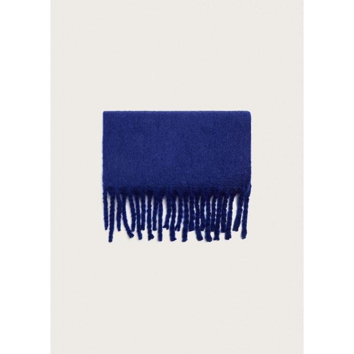 Maxi écharpe à franges bleu Violeta By Mango   La Redoute 376876a6aae