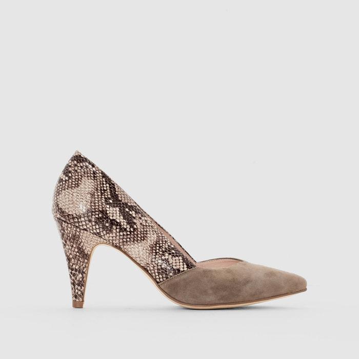 Imagen de Zapatos de tacón en piel de serpiente R essentiel