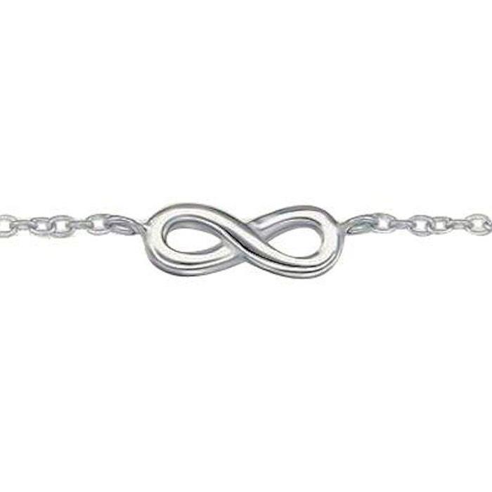 Bracelet chaîne longueur réglable  18 à 20 cm symbole infini argent 925 So  Chic Bijoux   La Redoute 9adabc7b9b7b