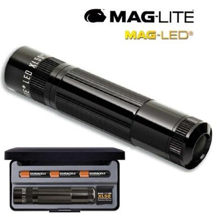 lampe torche de poche a led maglite xl 50 noire coffret. Black Bedroom Furniture Sets. Home Design Ideas