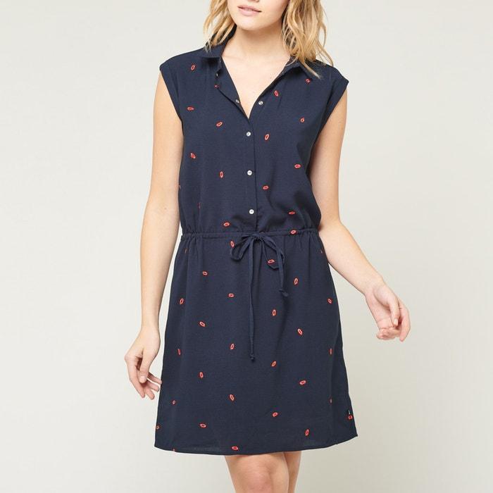 d1c1ae634c5a8 Up sleeveless printed dress navy blue Le Temps Des Cerises | La Redoute