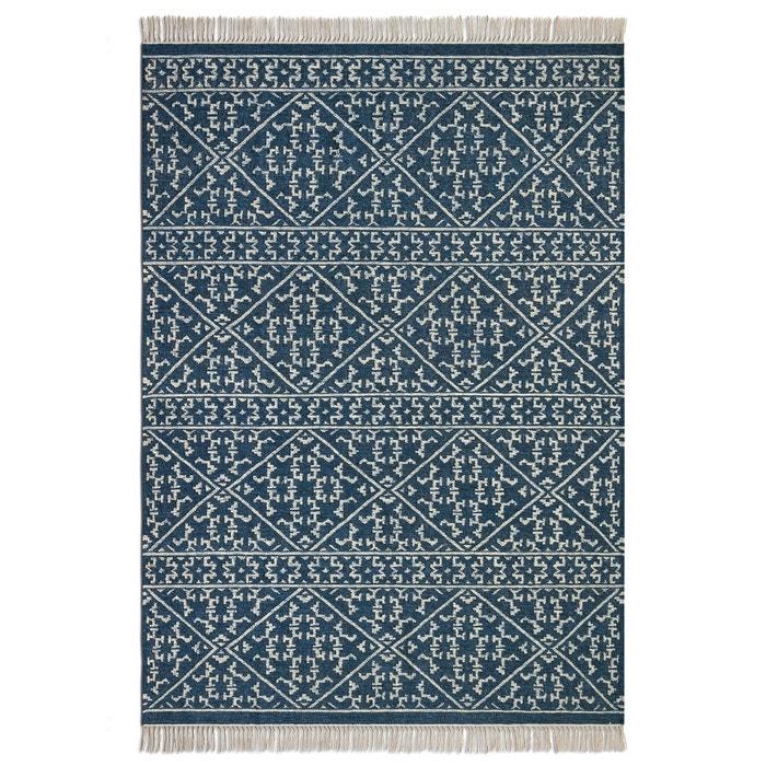 afbeelding Geweven tapijt met kilim motief in wol, Markus AM.PM.