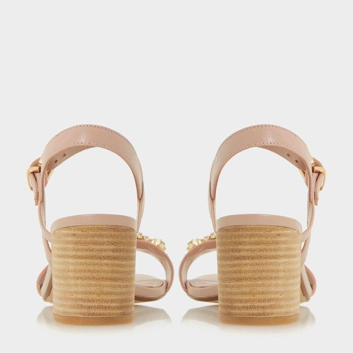 Sandales à talons carrés ornées de bijoux fantaisie - joone Dune London