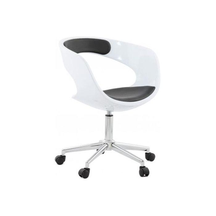 chaise de bureau noir et blanche