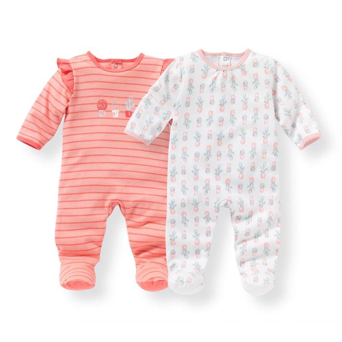 Imagen de Pijama de algodón estampado 0 meses - 3 años (lote de 2) La Redoute Collections