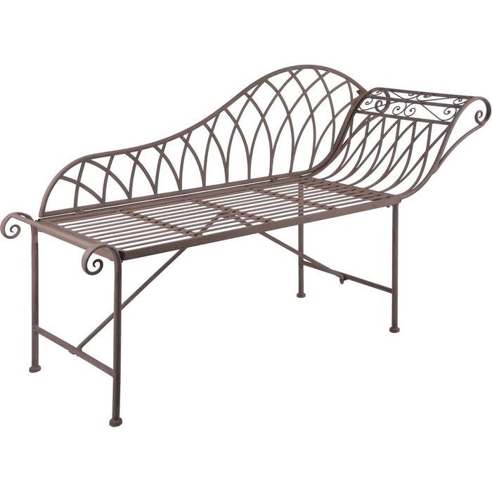 Chaise longue en m tal brun esschert design la redoute - La redoute chaise longue ...