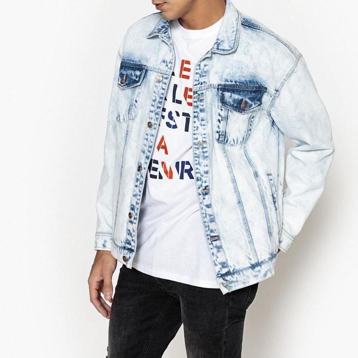 aece9446a6adb Veste en jean coupe ample impression au dos