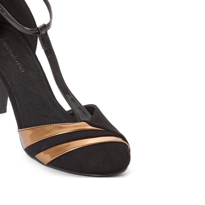 CASTALUNA Wide Fit T-Bar Heels, Sizes 38-45