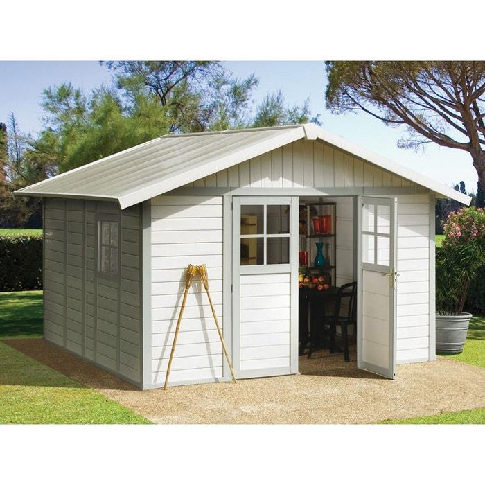 abri jardin deco 7 5 7 5 m x x m 26 mm blanc habitat et jardin la redoute. Black Bedroom Furniture Sets. Home Design Ideas