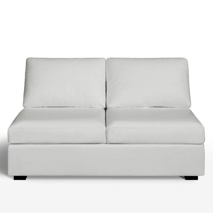 Image Banquette 2 places, fixe, confort supérieur, cuir, Robin La Redoute Interieurs
