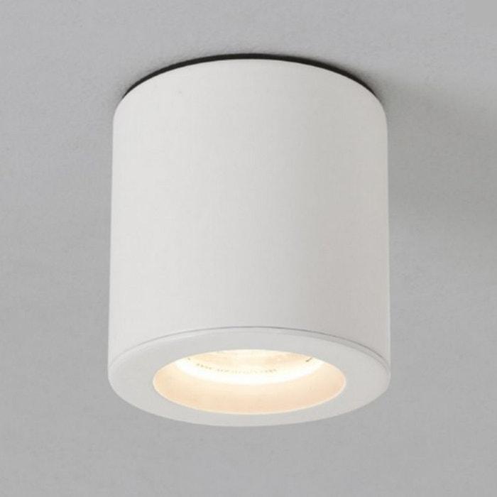 Plafonnier Kos rond LED IP65 salle de bains - Argent