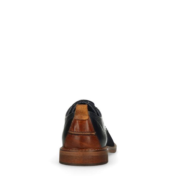 Chaussures à lacets bleu Sacha