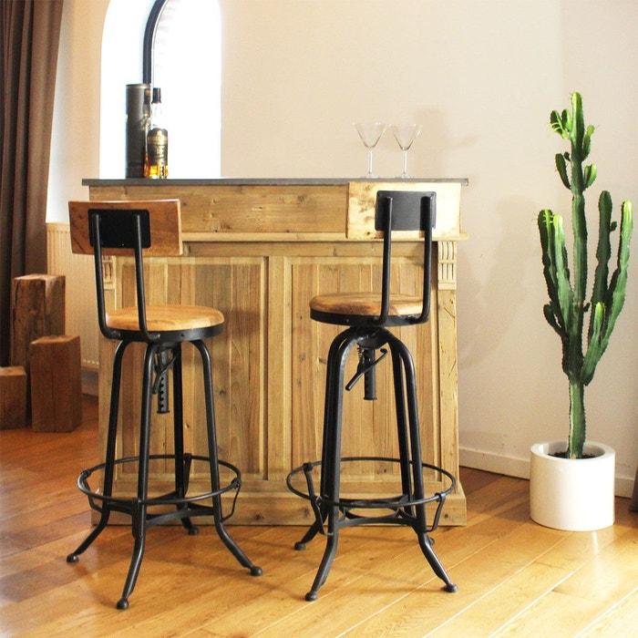 cool bar bois vintage authentiq cm khb made in meubles. Black Bedroom Furniture Sets. Home Design Ideas