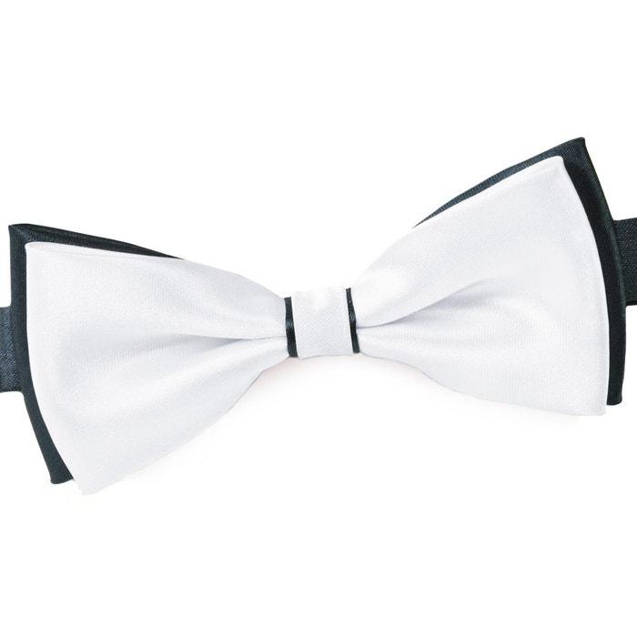 Noeud papillon becool blanc sur anthracite gris Dandytouch | La Redoute Acheter Pas Cher Payer Avec Visa Autorisation De Sortie N7TlS5W4L