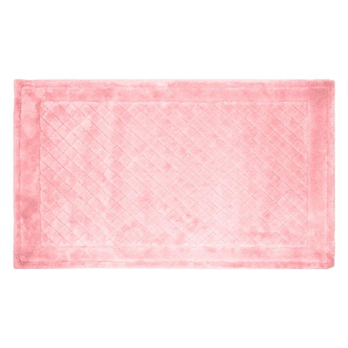 Tapis de bain baklava rose rose i fil home la redoute - Tapis de bain la redoute ...