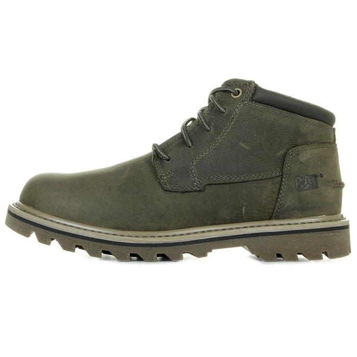 Caterpillar Doubleday Liège vert - Chaussures Boot Homme