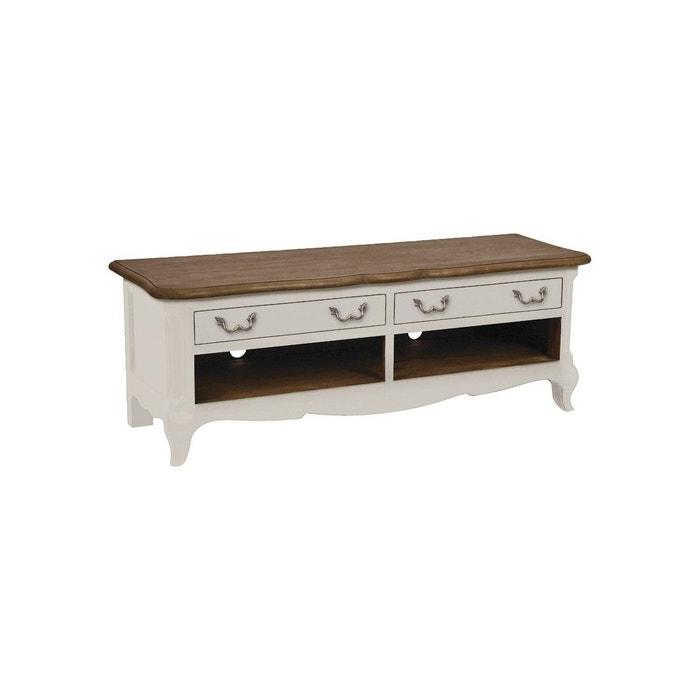 meuble bas tv hifi blanc interior s la redoute. Black Bedroom Furniture Sets. Home Design Ideas