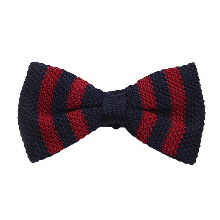 Noeud papillon tricot rayures rouge et bleu multicolore Dagobear | La Redoute Vente Pas Cher Vraiment 2i3OslYME