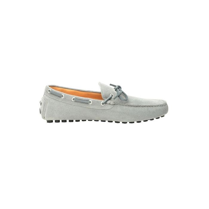 24e3595a3cb27 Mocassins en cuir velours gris gris clair Shoepassion La Redoute