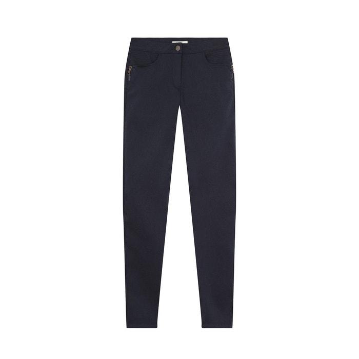 Slim Devernois Redoute Bleu Coton Stretch Pantalon La PxwBRURq