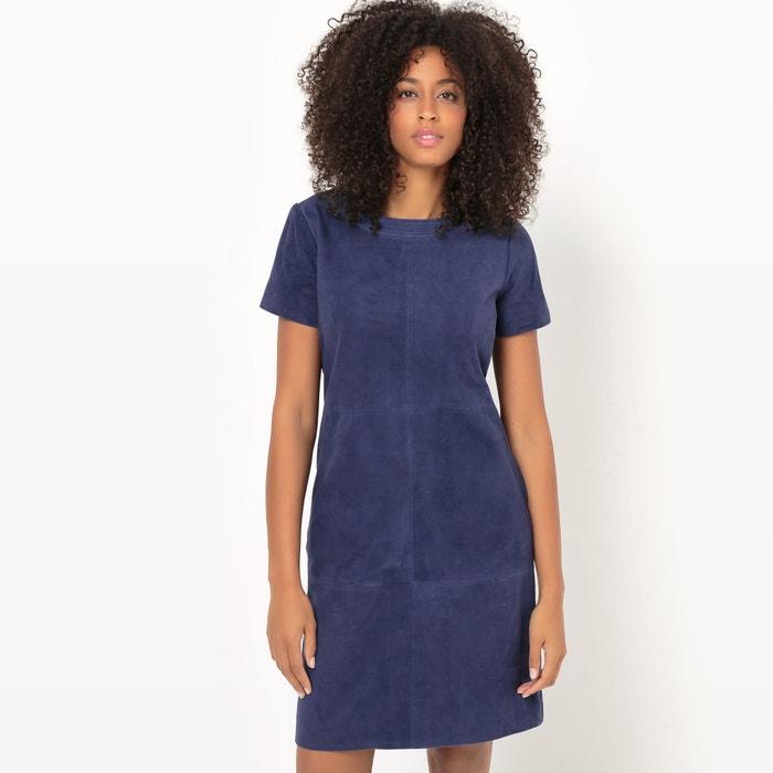afbeelding Rechte jurk in leer La Redoute Collections