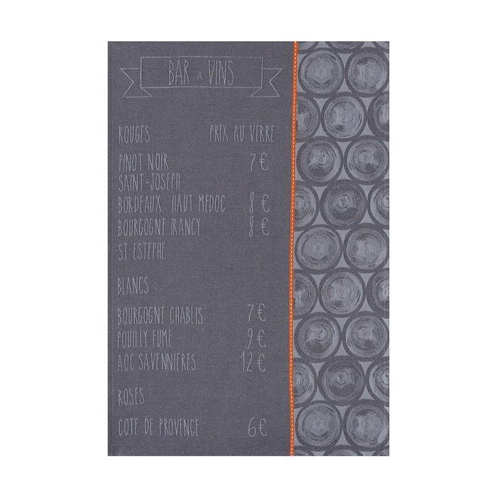 Torchon la carte zinc 70x50 100 coton noir le jacquard francais la redoute - Torchon jacquard francais ...