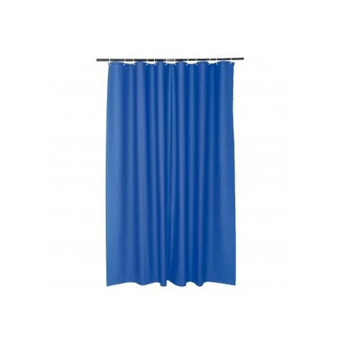 Rideau de douche uni en peva bleu roi home bain la redoute - Rideau bleu roi ...