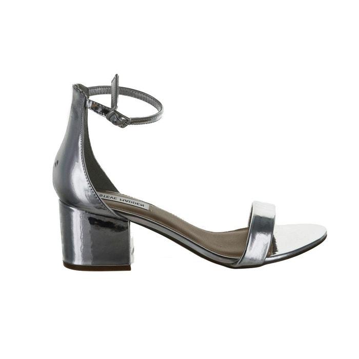 Sandale ouverte en cuir à talon bas irenee argent Steve Madden Ordre De Vente Visiter Le Nouveau Prix De Gros Réduction Confortable Large Gamme De Vente 5tULEdHe