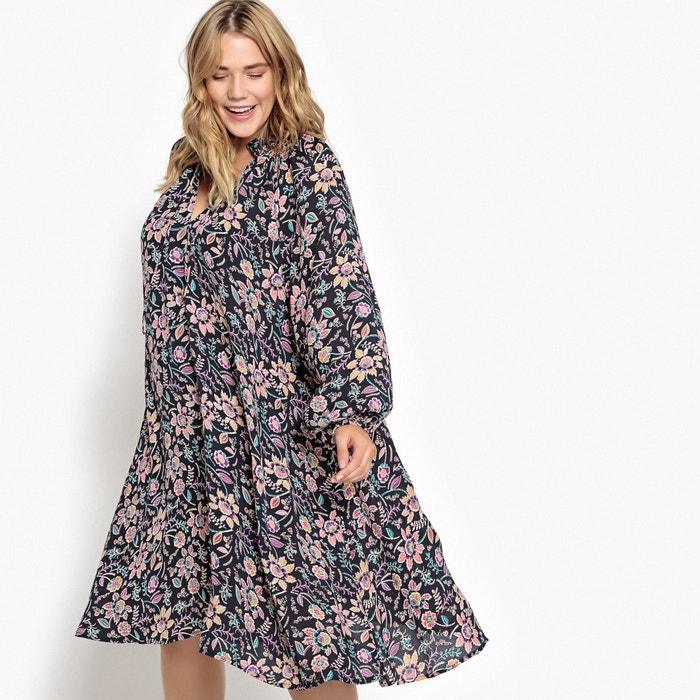 de flores con CASTALUNA estampado larga manga patinadora Vestido EwICCrqX