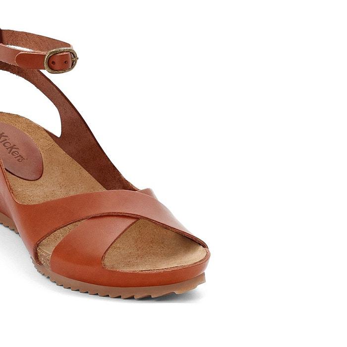 Sandales cuir compensées toki Kickers