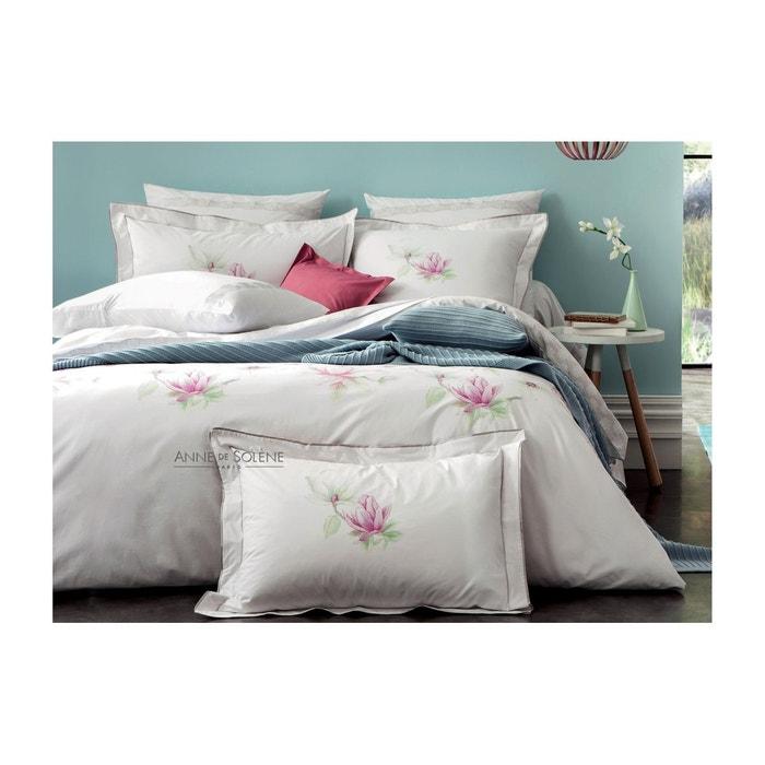 housse de couette magnolia blanc anne de solene la redoute. Black Bedroom Furniture Sets. Home Design Ideas