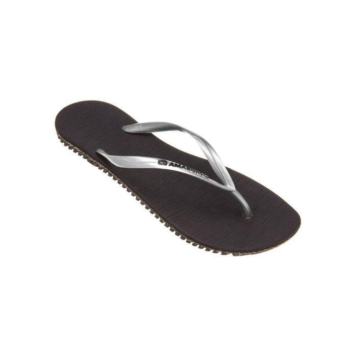 Amazonas Tongs femme  Bio Flip Flop Marron et Argenté GRIS - Chaussures Tongs Femme