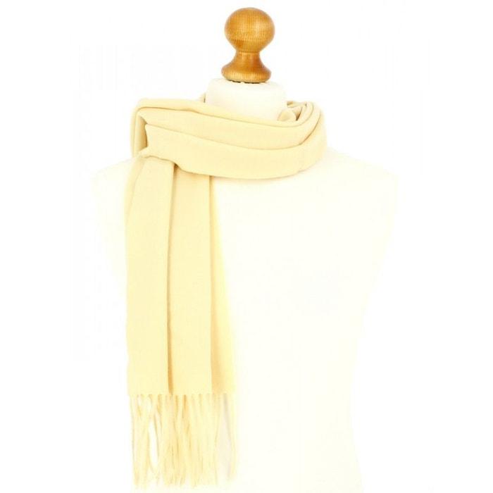 Echarpe jaune paille luxe unie en laine d'australie, 37x180cm jaune Tony Et Paul | La Redoute