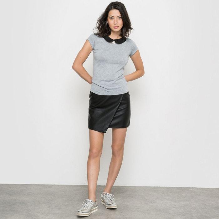jupe courte droite en simili cuir noir r edition la redoute. Black Bedroom Furniture Sets. Home Design Ideas