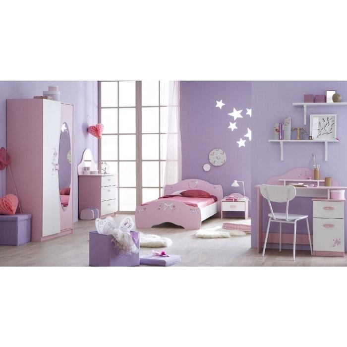 Chambre complète enfant rose,blanc CB105