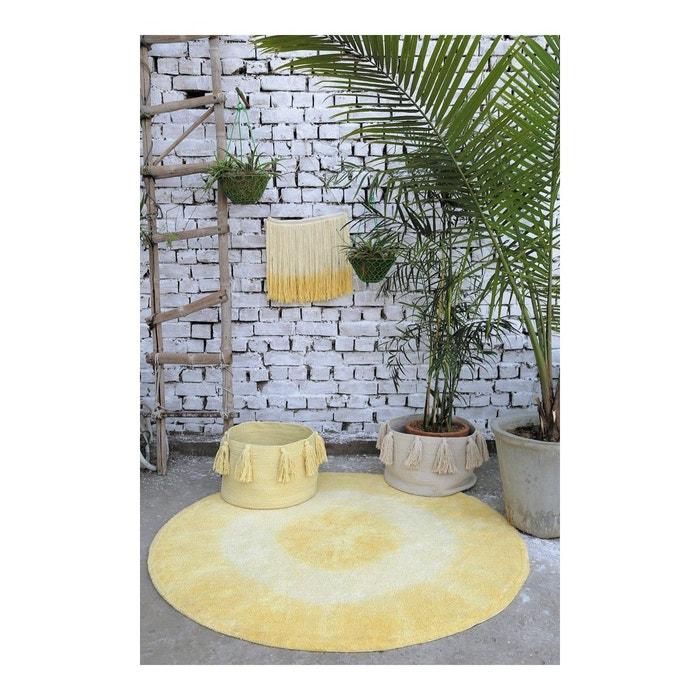tie dye jaune rond en coton lavable pour chambre b b par lorena canals jaune lorena canals la. Black Bedroom Furniture Sets. Home Design Ideas