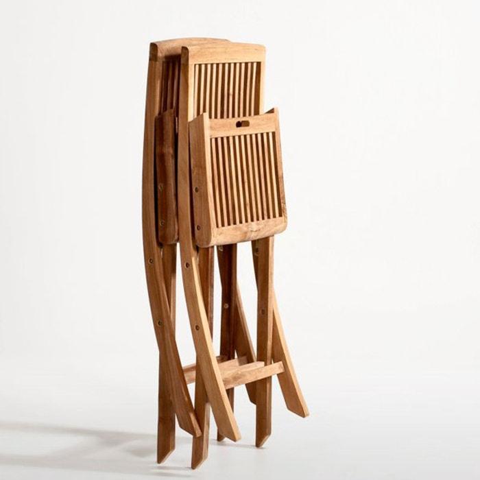 Image Chaise pliante, teck, lot de 2 La Redoute Interieurs
