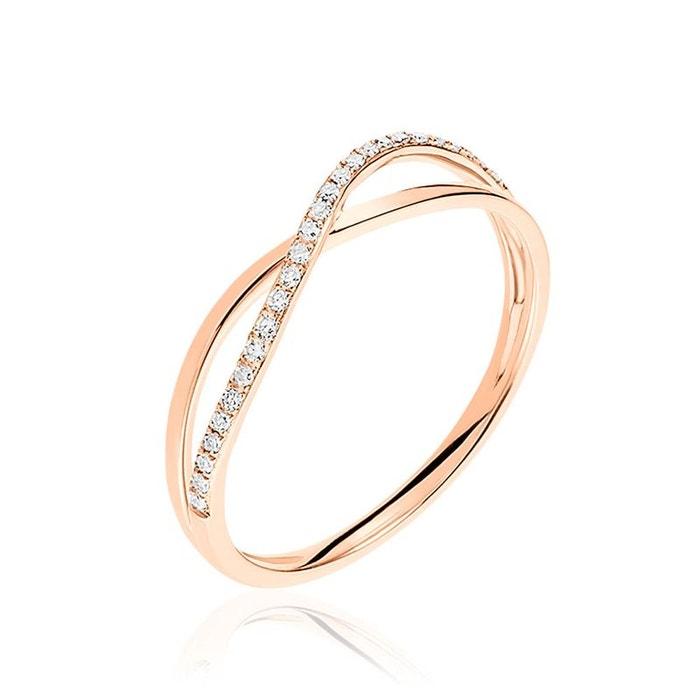 Jeu Acheter Bague louna or rose vague croise diamant rose Histoire D'or | La Redoute Sortie 100% Authentique vraiment Y2F1pp0