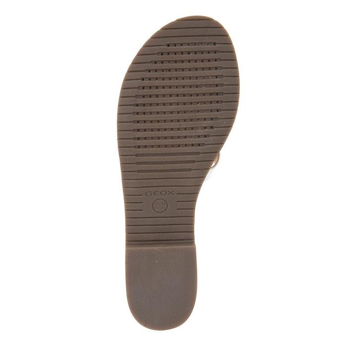 plates GEOX plates GEOX en cuir Sandales plates en GEOX en Sandales Sandales cuir vwvFq0rP